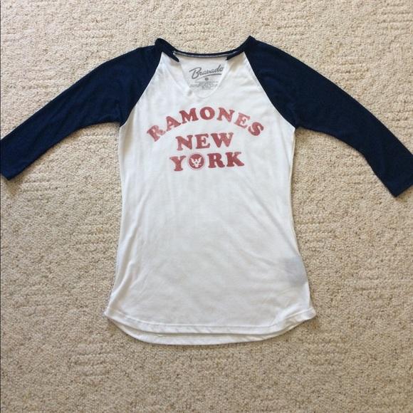 efa58fca2d7e Bravado Tops - Ramones NY baseball 3 4 sleeve shirt size S